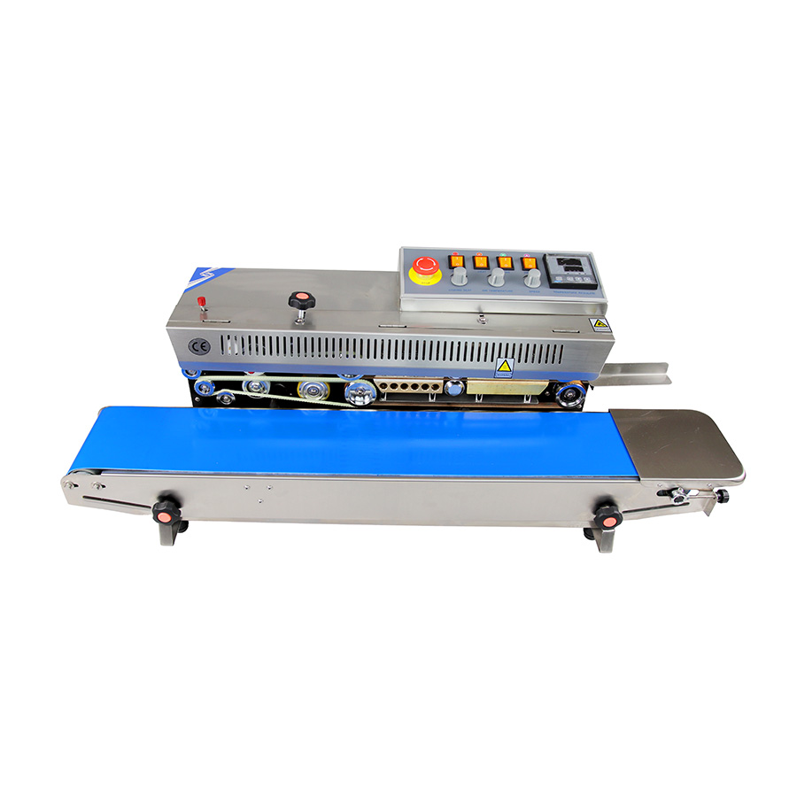 horizontal stainless steel band sealer with digital controller
