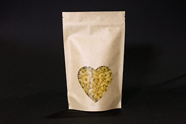 Heart Window Kraft Standup Pouch