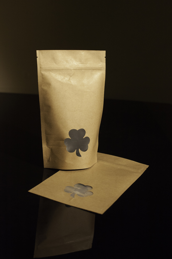 Shamrock Window Kraft Standup Pouch