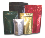 colored mylar standup pouches
