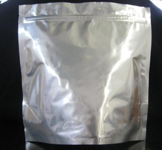 one gallon silver stand up bag