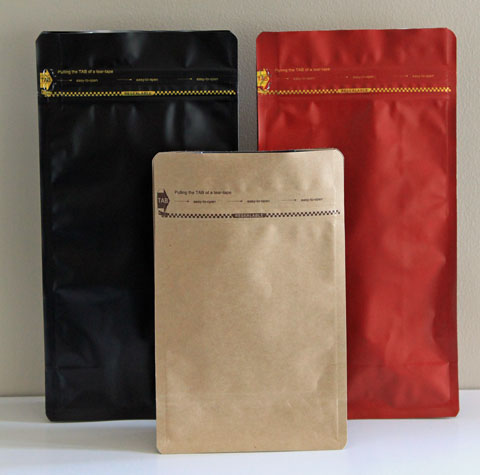 Square Bottom Stand Up Coffee Bags