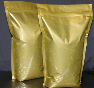 Transparent Gold Standup Pouch